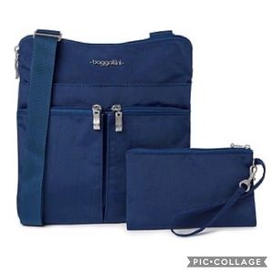 NWT Baggallini Horizon Crossbody Bag, & Wristlet